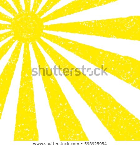Kézzel rajzolt nap festett pasztell zsírkréták grafikus Stock fotó © pakete