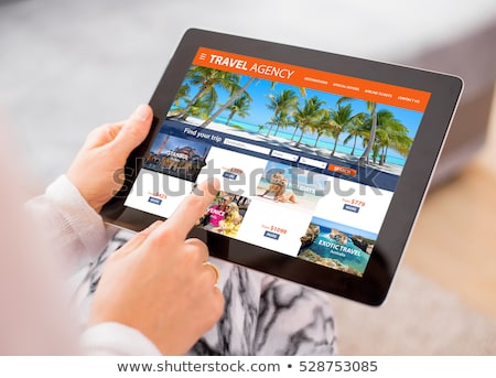 Site travel agency Stock photo © Filata
