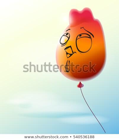 Сток-фото: красный · воздушный · шар · петух · символ · китайский · календаря