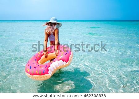 Doughnut Inflatable Woman Stock photo © Kakigori