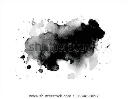 Parlak suluboya mürekkep sıçramak vektör su Stok fotoğraf © SArts