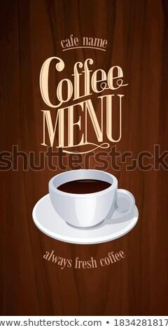 Coffee house retro long menu . Stock photo © Dimpens
