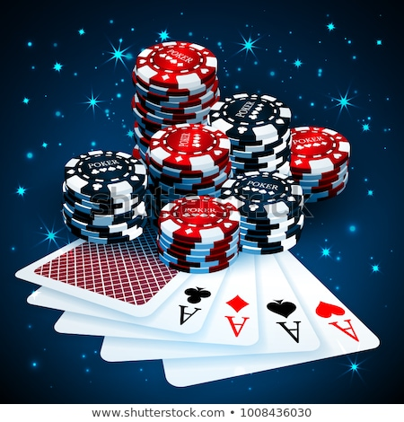 Vector illustration on a casino theme with poker card and chips. Stock photo © articular