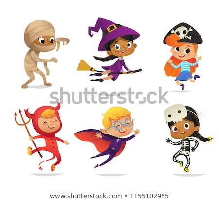 Brave boy wearing a Halloween pirate costume Stock photo © zooco