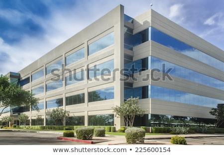 Corporativo prédio comercial fachada reflexão outro arranha-céu Foto stock © 5xinc