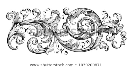Floral Filigree Pattern Scroll Design Stock photo © Krisdog