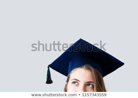 Stock photo: graduate girl at school