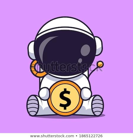 Astronauta dinheiro retro homem Foto stock © studiostoks