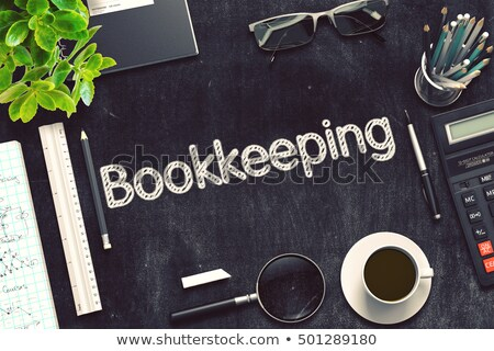 black chalkboard with bookkeeping 3d rendering stock photo © tashatuvango
