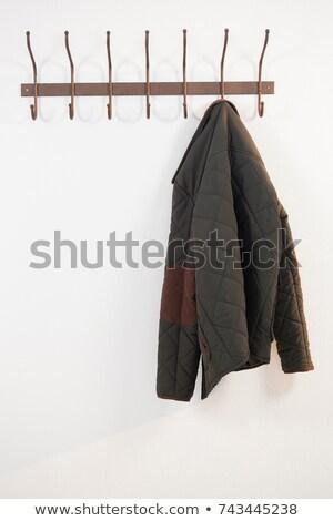 Közelkép meleg ruházat akasztás kampó fehér Stock fotó © wavebreak_media