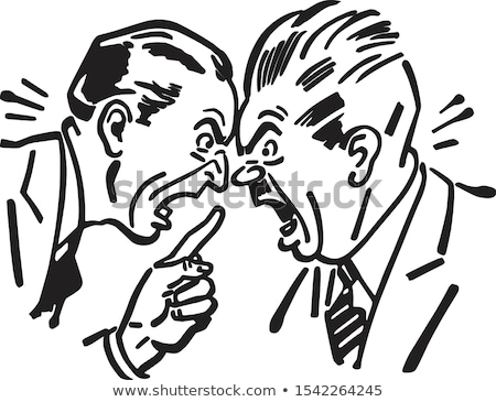 Two men having discussion Stock photo © IS2