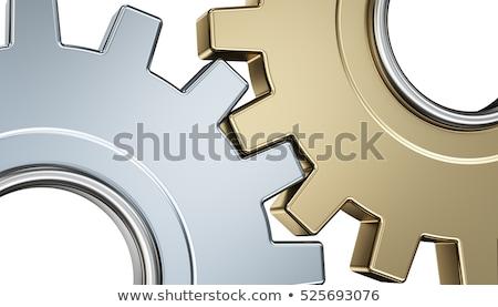 Machines uitrusting gouden cog versnellingen 3D Stockfoto © tashatuvango
