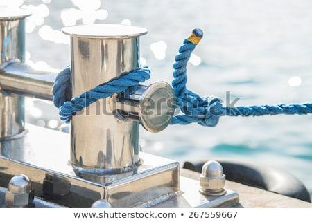 Madeni liman iskele gönderemezsiniz halat seçici odak Stok fotoğraf © stevanovicigor