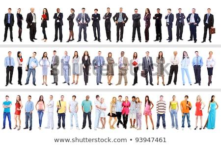 set of businesswomen on white background stock photo © alexanderandariadna