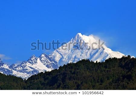 gündoğumu · dağ · Nepal · güney · orman · manzara - stok fotoğraf © denbelitsky