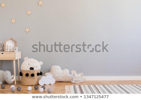 Noel · bebek · oda · iç · noel · ağacı · mobilya - stok fotoğraf © biv