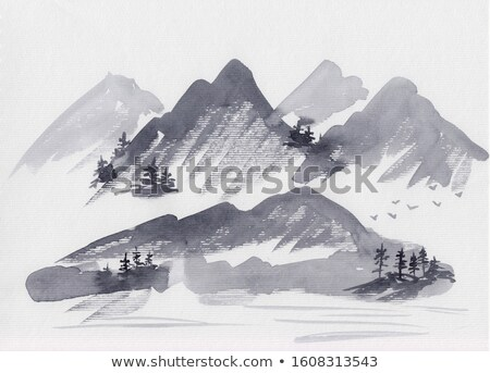 Winter landscape with mountain peak Stock photo © Kotenko