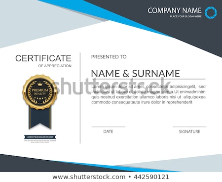 certificate template for gold medal on paper stock photo © bluering