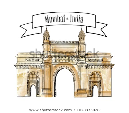 Mumbai city gate way icon, India. Famous indian Maharashtra gates Stock photo © Terriana