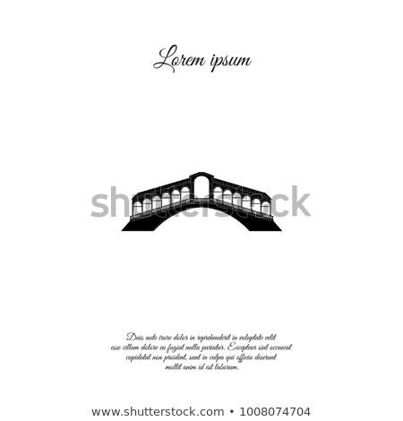 Venice city sign. Tourist venetian transport gondola. Travel Italy icon Stock photo © Terriana