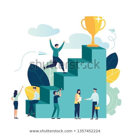 Five business people move forward Stock photo © IS2