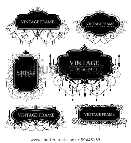 Vintage frame with chandelier Stock photo © ElaK