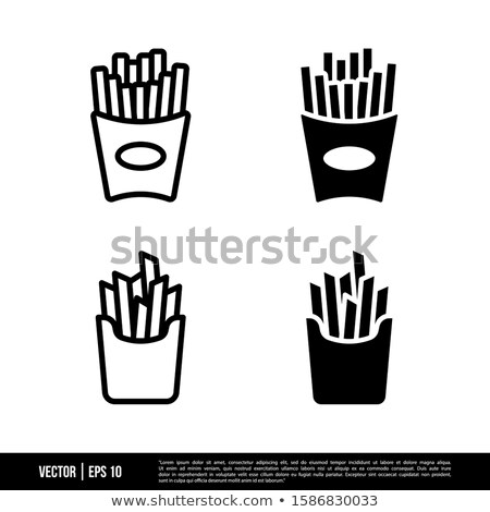 French fries isolated icon in flat style Stock photo © studioworkstock