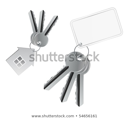 Bunch of keys and a business card. Stock photo © shutter5