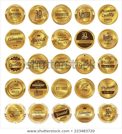 premie · certificaat · waardering · sjabloon · achtergrond · goud - stockfoto © sarts