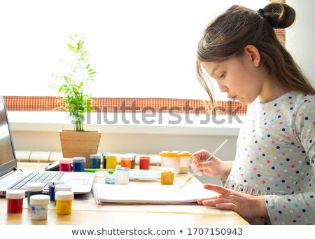 Girls in a craft lesson Stock photo © IS2