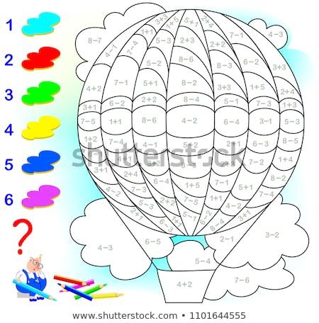 Números ninos matemáticas ilustración ordenador Foto stock © bluering