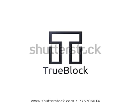 abstract alphabet letter T logo icon. floor tile wall block sign stock photo © taufik_al_amin
