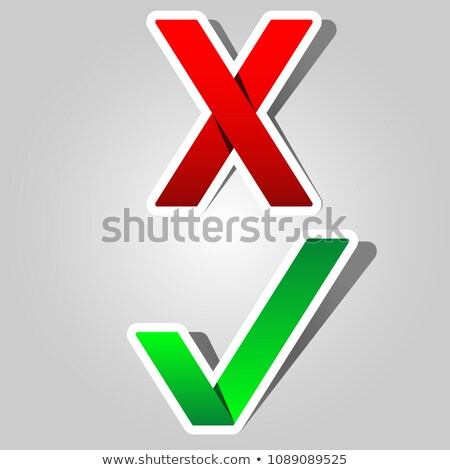 green check mark and red x - paper appearance Stock photo © djdarkflower