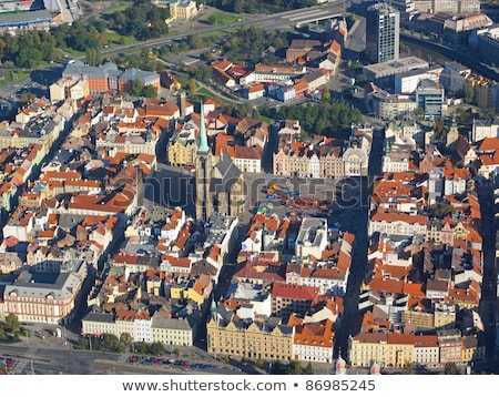Republic Square in Pilsen - aerial view Stock photo © benkrut