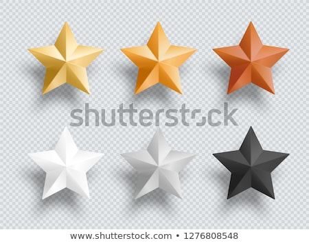 Stock photo: web star rating symbol in black and white theme