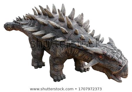dinossauro · desenho · animado · ilustração · bonitinho · sorrir · feliz - foto stock © maryvalery