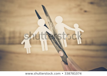 стороны Cut бумаги семьи развод иллюстрация Сток-фото © lenm