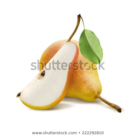 whole and sliced yellow pears Stock photo © Digifoodstock