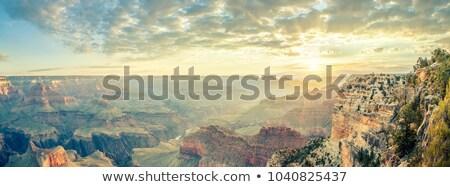 Grand · Canyon · napfelkelte · folyó · Colorado · hegy · kék - stock fotó © vwalakte