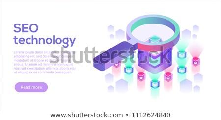 Isometric SEO analysis illustration. Stock photo © RAStudio
