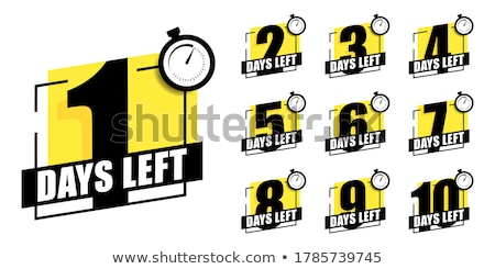 Countdown timer label business web tijd Stockfoto © SArts