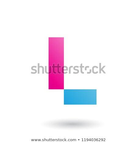 Magenta letra l retangular formas vetor ilustração Foto stock © cidepix