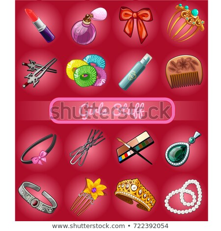 A set of accessories for young girl or bride. Sketch for holiday placard, celebration card or party  Stock photo © Lady-Luck