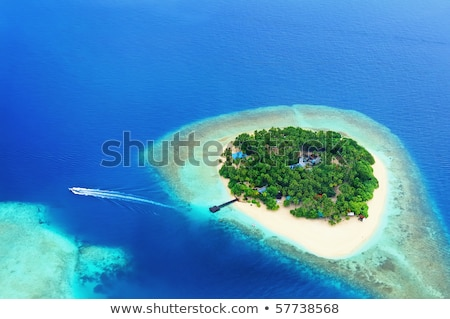 Aerial shot of small island stock photo © Mps197