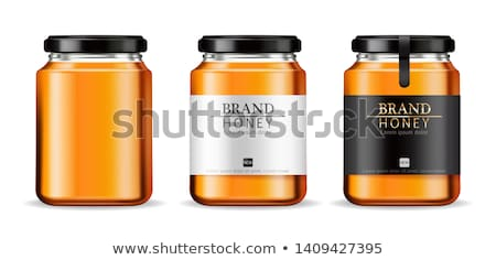 Honey Canned in Jar Product Vector Illustration Stock photo © robuart