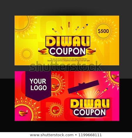 diwali sale background with crackers Stock photo © SArts