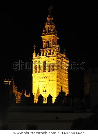 Katedral gece aziz görmek Bina gün batımı Stok fotoğraf © benkrut