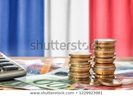 euro · munten · europese · vlag · geld · Blauw - stockfoto © zerbor
