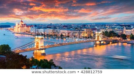 Belo ver Budapeste famoso pôr do sol céu Foto stock © Givaga