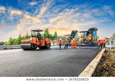 estrada · trabalhar · conjunto · equipamento · branco · segurança - foto stock © bluering